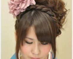 成人式する髪型で編み込みの特長をご紹介画像2