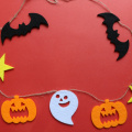 Halloween felt decoration background